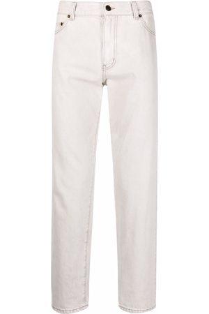 Saint Laurent Straight-leg cropped jeans