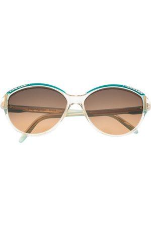 Yves Saint Laurent Ženy Sluneční brýle - 1980s rhinestone-embellished round-frame sunglasses