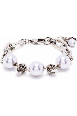 Alexander McQueen Skull pearly bead bracelet