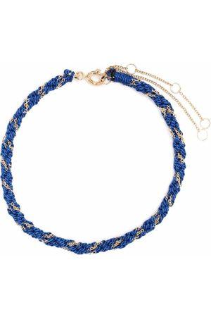 The Alkemistry Ženy Náramky - 18kt yellow gold and silk Kumachi bracelet