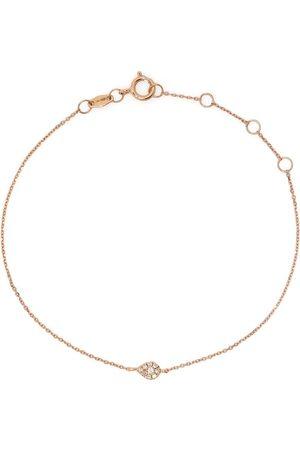 DJULA Ženy Náramky - 18kt rose gold diamond pear chain bracelet