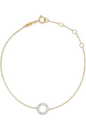 DJULA 18kt yellow gold Circle diamond chain bracelet