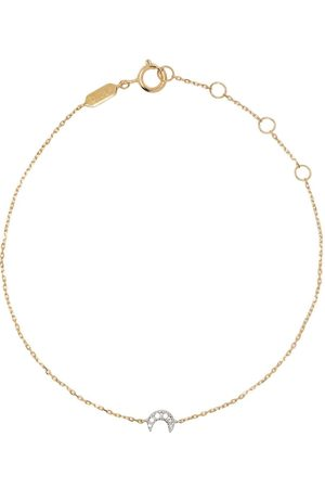 DJULA Ženy Náramky - 18kt yellow gold Moon diamond chain bracelet