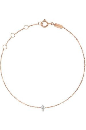 DJULA Ženy Náramky - 18kt rose gold Cross diamond chain bracelet