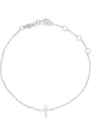 DJULA Ženy Náramky - 18kt white gold Cross diamond chain bracelet