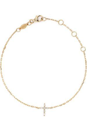 DJULA Ženy Náramky - 18kt yellow gold Cross diamond chain bracelet