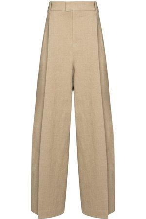 Bottega Veneta Pleated front wide-leg trousers