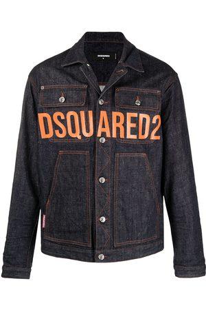 Dsquared2 Muži Džínové bundy - Logo-print denim jacket