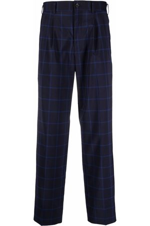 Comme des Garçons Checked wool trousers