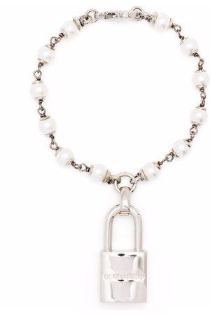 Dsquared2 Pearl padlock bracelet