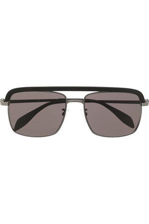 Alexander McQueen Muži Sluneční brýle - Skull-motif aviator-frame sunglasses