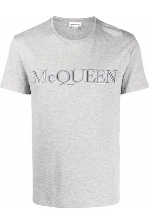 Alexander McQueen Embroidered logo cotton T-shirt