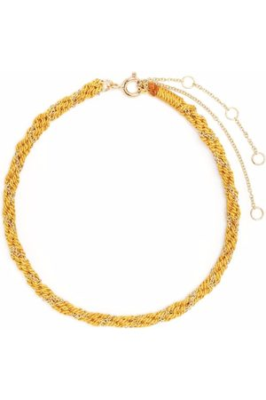 The Alkemistry 18kt yellow gold and silk Kumachi bracelet