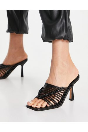 ASOS Nyle caged high heeled mules in black