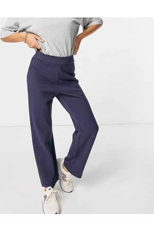 & OTHER STORIES Organic cotton co-ord lounge pants in navy