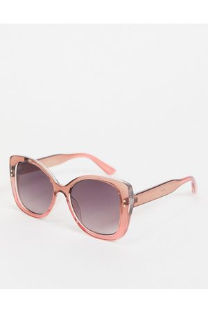 Jeepers Peepers Womens square sunglasses in pink
