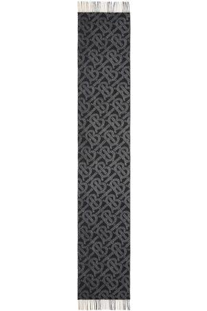 Burberry Reversible check monogram-pattern scarf