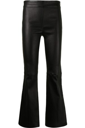 Helmut Lang Flared leather trousers