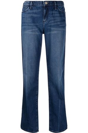 Emporio Armani Ženy Rovné nohavice - J15 relaxed-fit worn-wash jeans