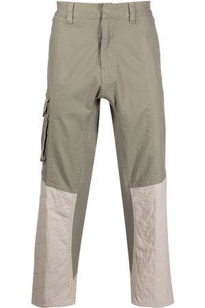 HONOR THE GIFT Contrast-panel straight-leg trousers