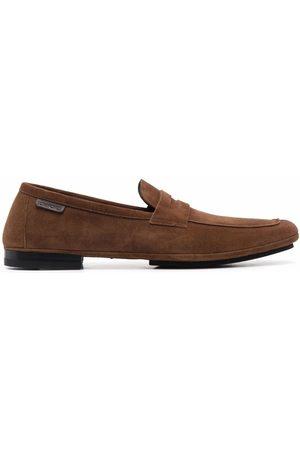 Tom Ford Muži Nazouváky - Almond toe logo tab loafers