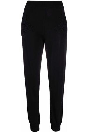 Stella McCartney Crochet-detail tapered track pants