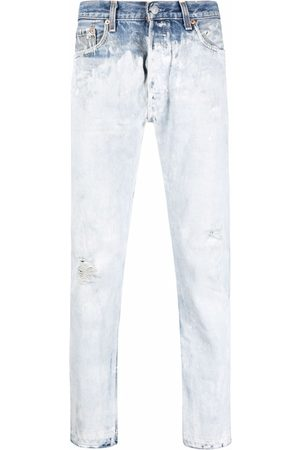 GALLERY DEPT. Muži Rovné nohavice - Mid-rise straight-leg bleached jeans