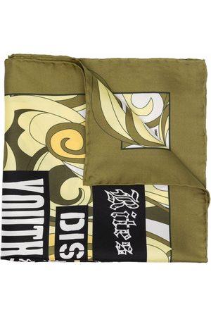 RAF SIMONS Muži Šály a šátky - Slogan-print silk scarf