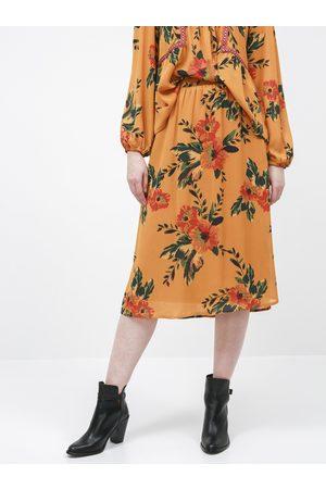 JACQUELINE DE YONG Květovaná midi sukně Solis