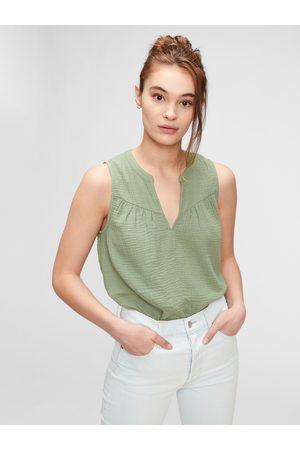 GAP Zelený dámský top sleeveless gauze