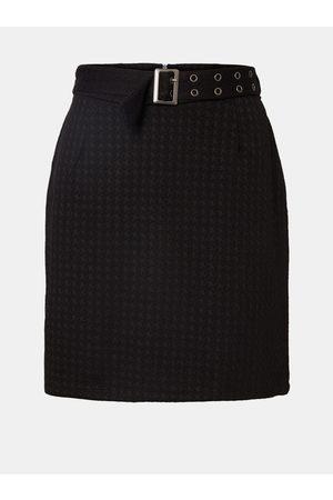 Noisy May Černá vzorovaná sukně s páskem Hound