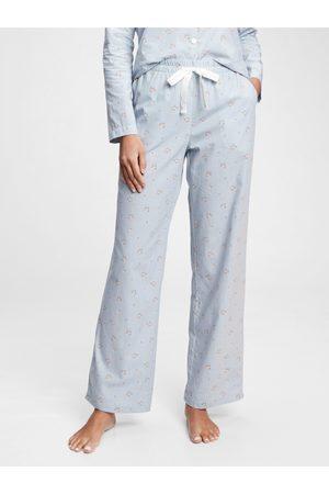 GAP Modré dámské pyžamové kalhoty pajama pants
