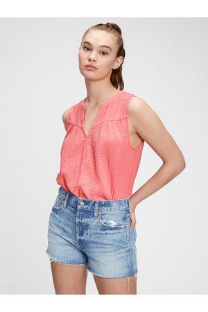 GAP Růžový dámský top sleeveless gauze