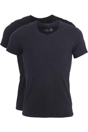 Blend Sada dvou černých slim fit trik pod košili véčkovým výstřihem