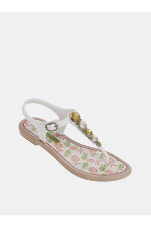 Grendha Bílé holčičí sandály