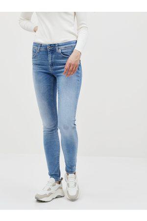 VERO MODA Modré slim fit džíny Lux
