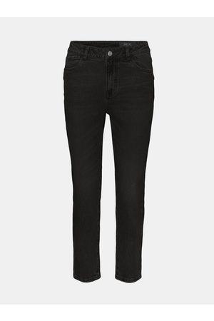 Noisy May Černé straight fit džíny