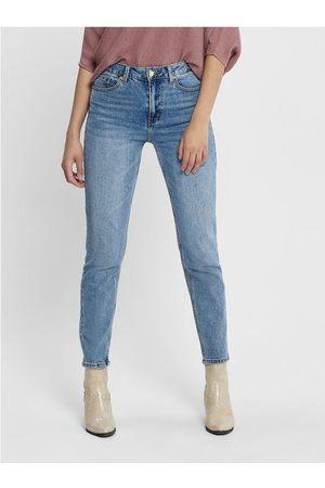 ONLY Modré zkrácené straight fit džíny Emily
