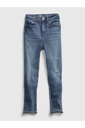 GAP Modré holčičí dětské džíny tw sky high skinny