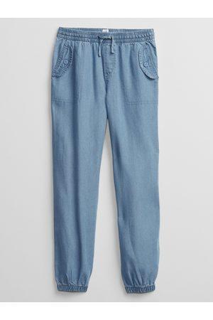GAP Modré holčičí dětské kalhoty v-cargo jogger
