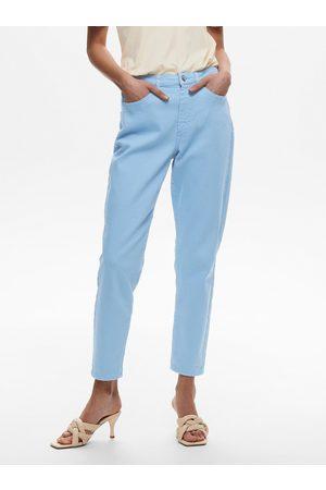 ONLY Modré zkrácené mom džíny Veneda