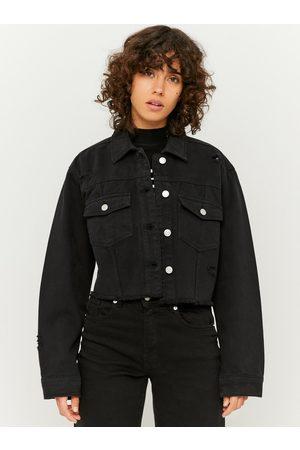 Tally Weijl Černá krátká džínová bunda