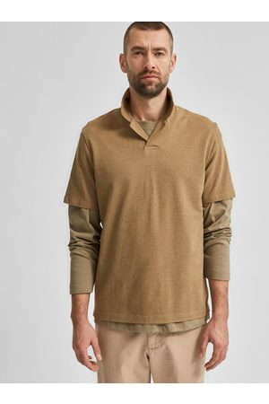 SELECTED Hnědé polo tričko Regatlas