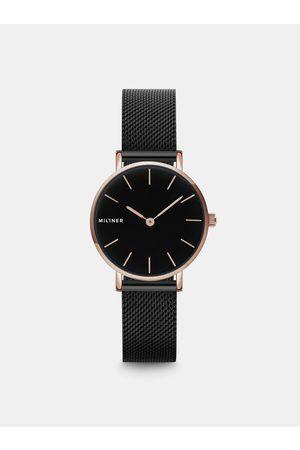 Millner Dámské hodinky s černým nerezovým páskem Mini