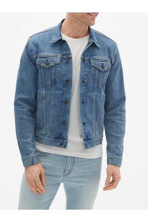 GAP Pánská džínová bunda v-flex denim icon - calm blue