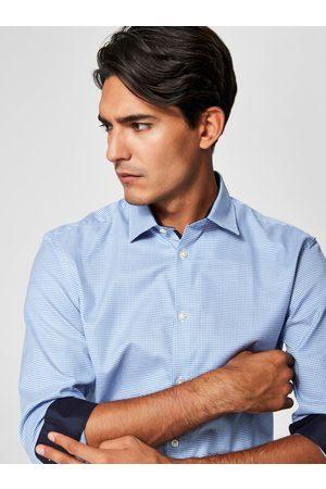 SELECTED Formální kostkovaná slim fit košile One New