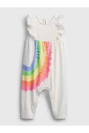 GAP Bílý holčičí baby overal rainbow one-piece
