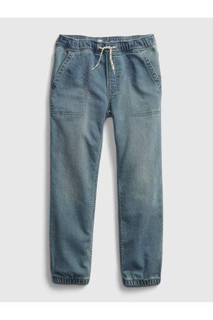 GAP Modré klučičí dětské džíny jogger lt soft dn