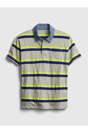GAP Barevné klučičí dětské polo tričko chambray