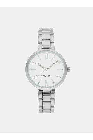 Nine West Dámské hodinky s kovovým páskem ve stříbrné barvě